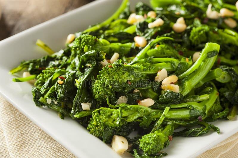 De eigengemaakte Groene Broccoli Rabe van Sauteed royalty-vrije stock afbeeldingen