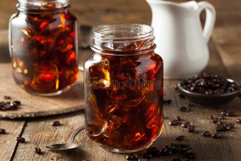 De eigengemaakte Koude brouwt Koffie royalty-vrije stock afbeeldingen