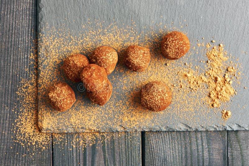De eigengemaakte Truffels van de Chocolade royalty-vrije stock foto