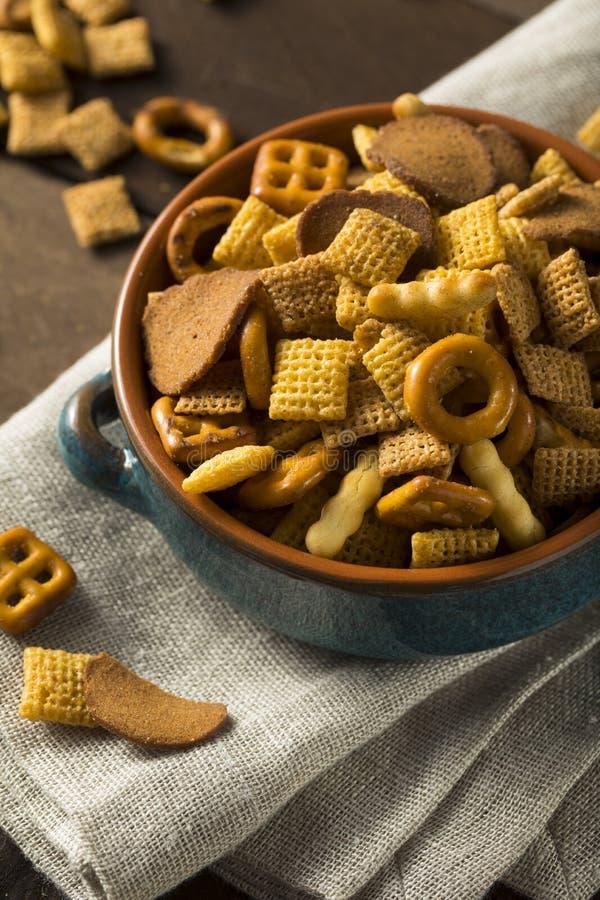 De eigengemaakte Zoute Mengeling van de Snackpartij stock fotografie