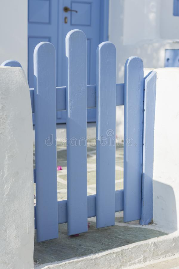 DE EILANDEN ARCHITECTURALE DETAILS VAN CYCLADEN, GRIEKENLAND stock foto