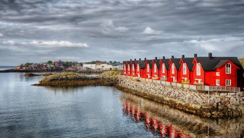 De eilanden Noorwegen van Lofoten royalty-vrije stock foto's