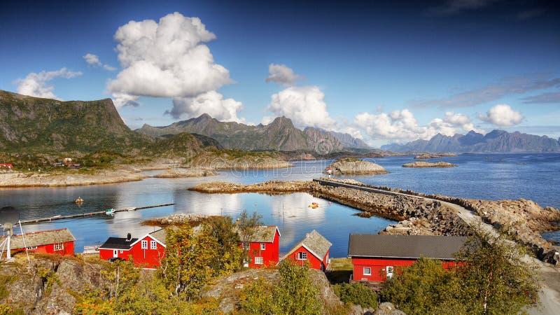 De eilanden Noorwegen van Lofoten stock afbeelding