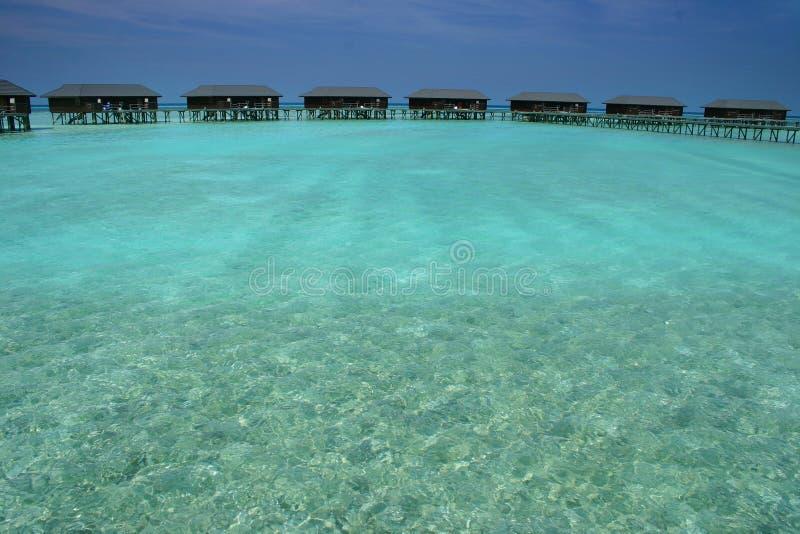 De eilanden van de Maldiven stock afbeelding