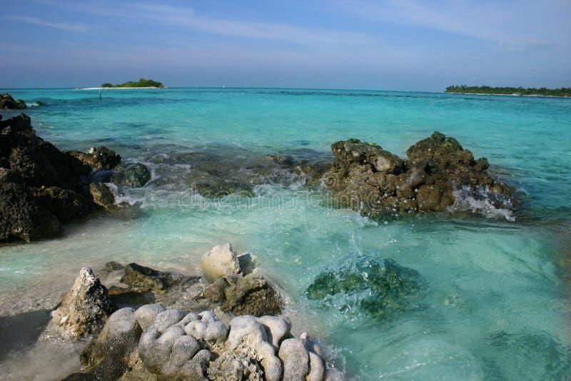 De eilanden van de Maldiven stock foto