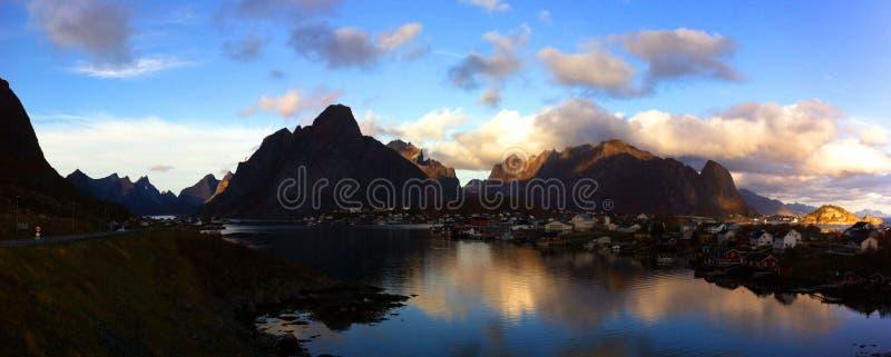 De Eilanden van Lofoten, Noorwegen stock foto's