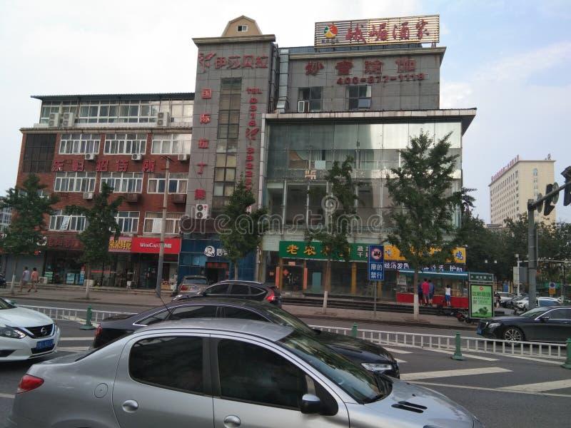 De eindeloze straten van China stock afbeelding