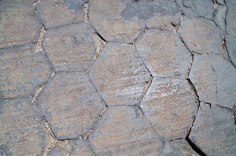 De Einden Van De Kolom Van Het Basalt Stock Afbeelding