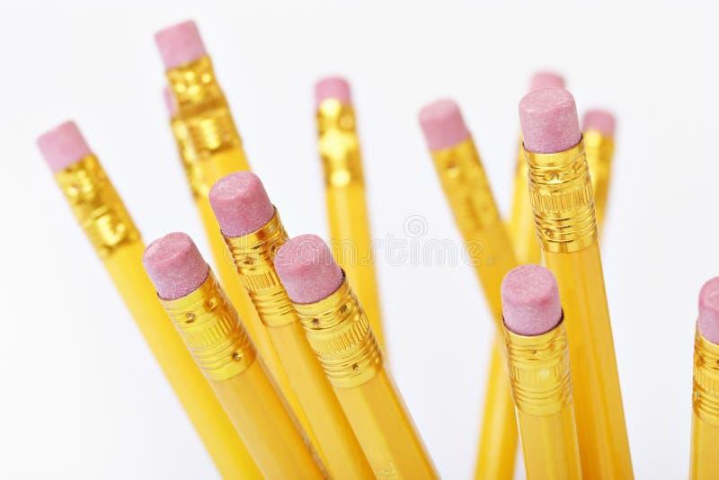 De einden van het potlood stock foto