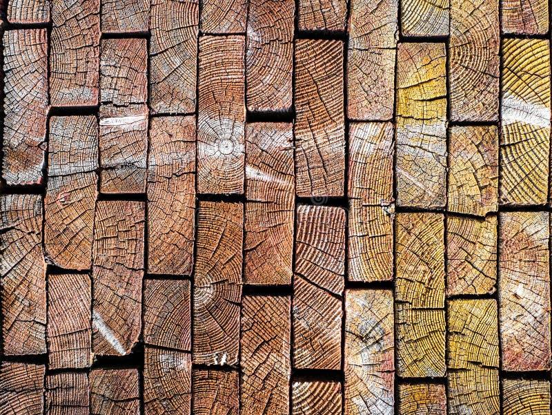De einden van houten raad Achtergrond van hout royalty-vrije stock foto's