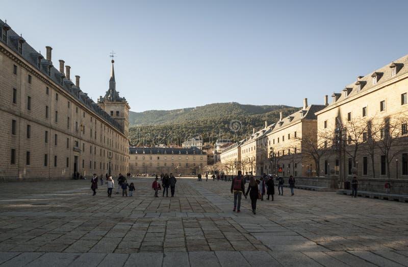 de El Escorial Lorenzo los Madrid fasadowy monaster g??wny Reyes kr?lewski San Spain zdjęcie stock