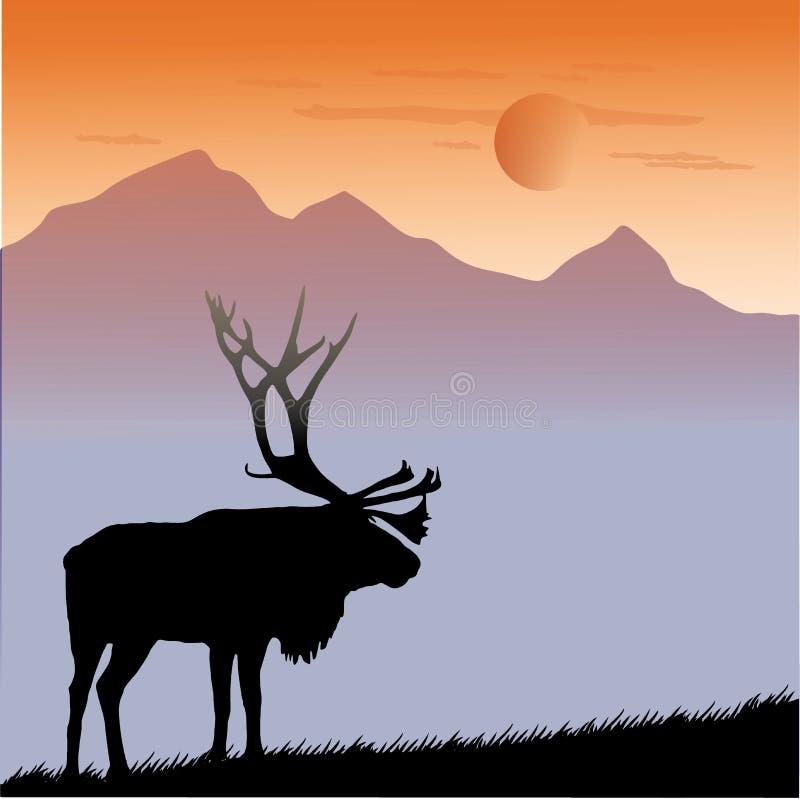 De elanden van het dierenwoord royalty-vrije stock afbeeldingen