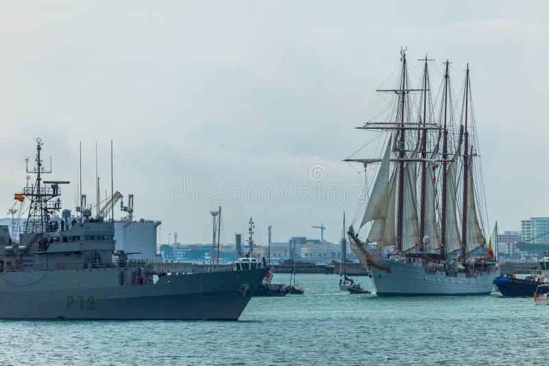de elcano juan sebastian ship fotografering för bildbyråer
