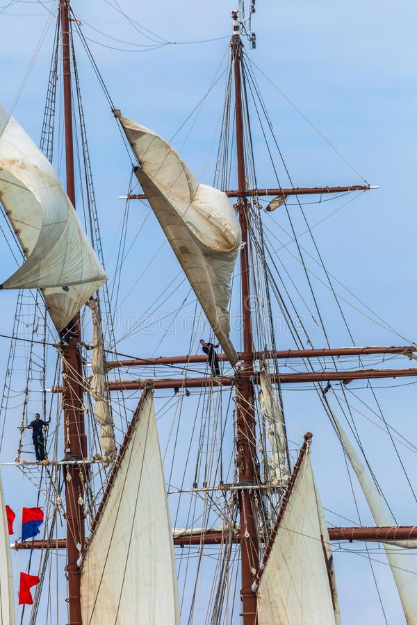 de elcano juan sebastian ship royaltyfria foton