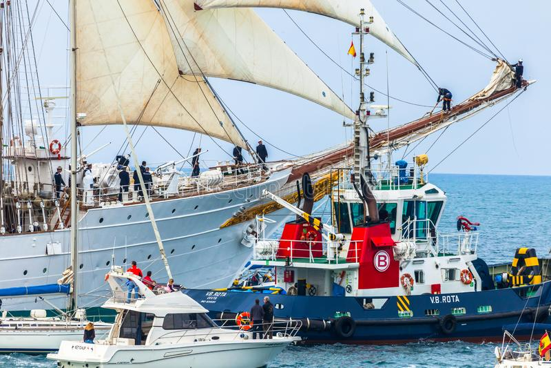 de elcano juan sebastian ship arkivfoto