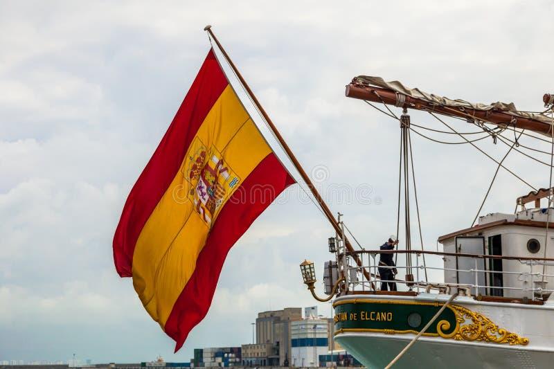 de elcano juan sebastian ship arkivbilder