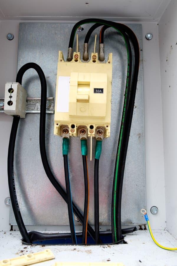 de electical raad van de distributiezekering Elektrische voedingen royalty-vrije stock foto's