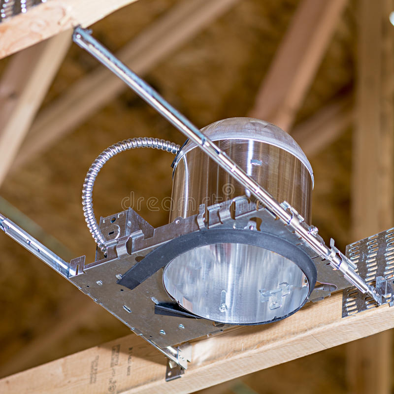 De electriclal verlichting van de huisbouw royalty-vrije stock afbeelding