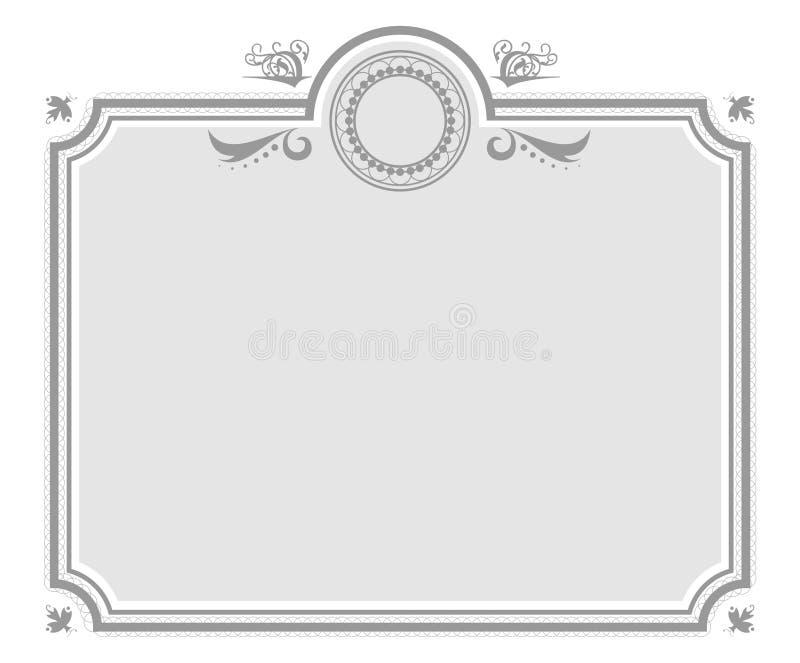 De elegante Achtergrond van het Certificaat vector illustratie