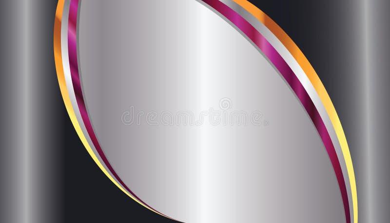 De elegante Achtergrond van het Metaal stock illustratie