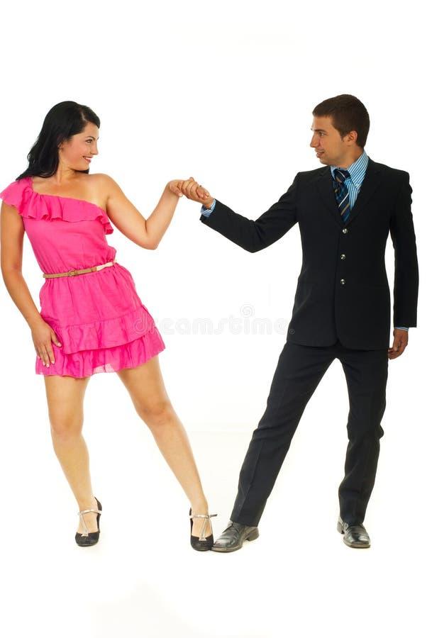 De elegante dansers koppelen royalty-vrije stock afbeelding