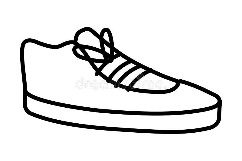 De elegante geïsoleerde schoen van het leerwerk royalty-vrije illustratie