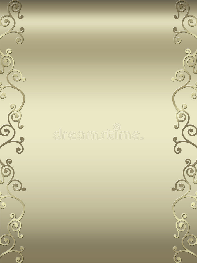 De elegante grens van het wervelingsontwerp royalty-vrije illustratie