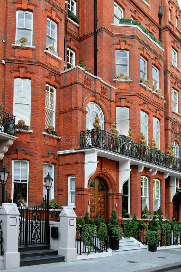 De elegante Huizen in de stad van Londen royalty-vrije stock fotografie