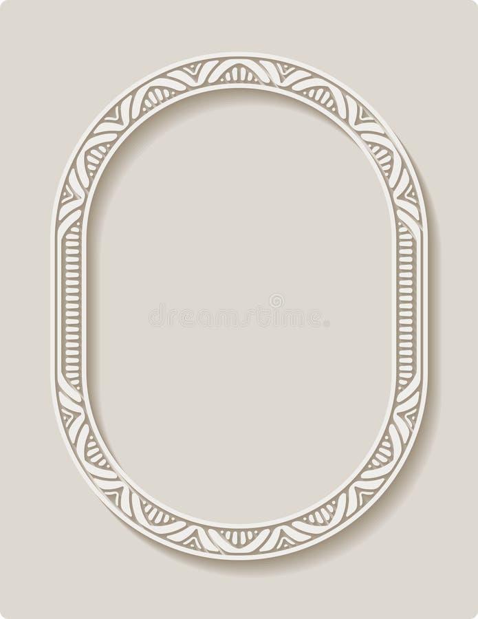 De elegante kaart van de kantgroet, huwelijksuitnodiging of aankondiging t vector illustratie