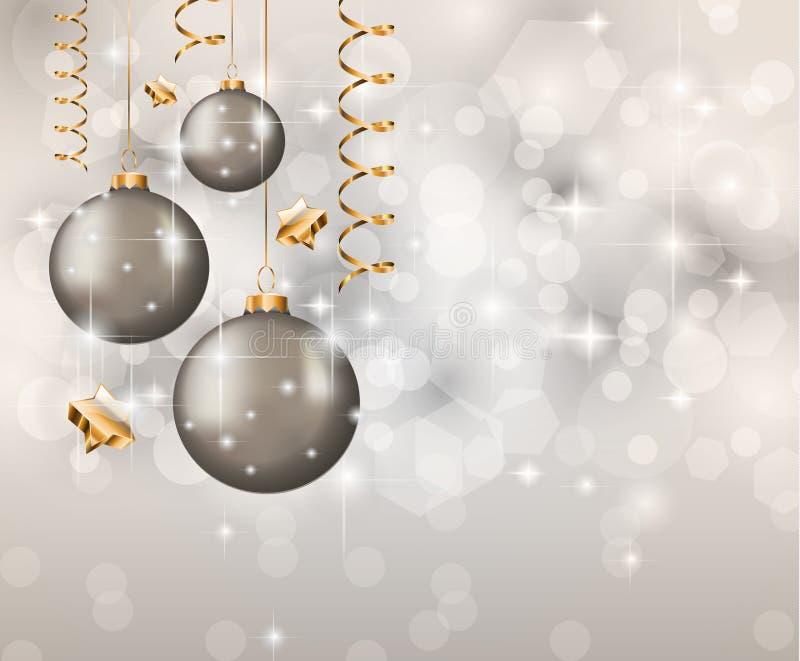 De elegante Klassieke Achtergrond van Kerstmis stock illustratie