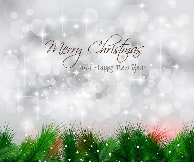 De elegante Klassieke Achtergrond van Kerstmis vector illustratie
