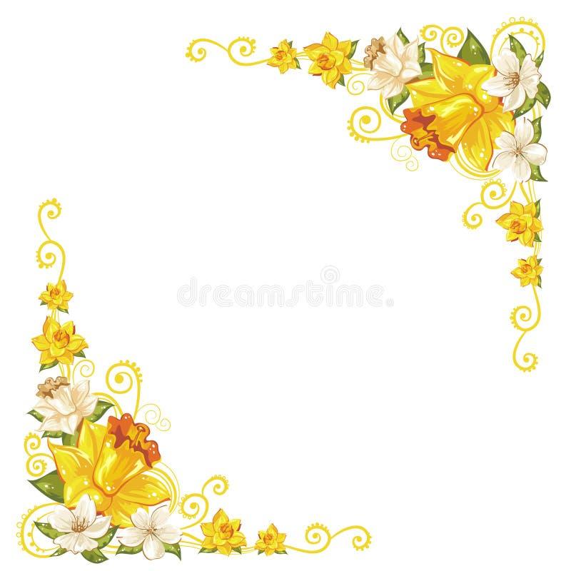 De elegante krommen bloeien hoeken stock illustratie