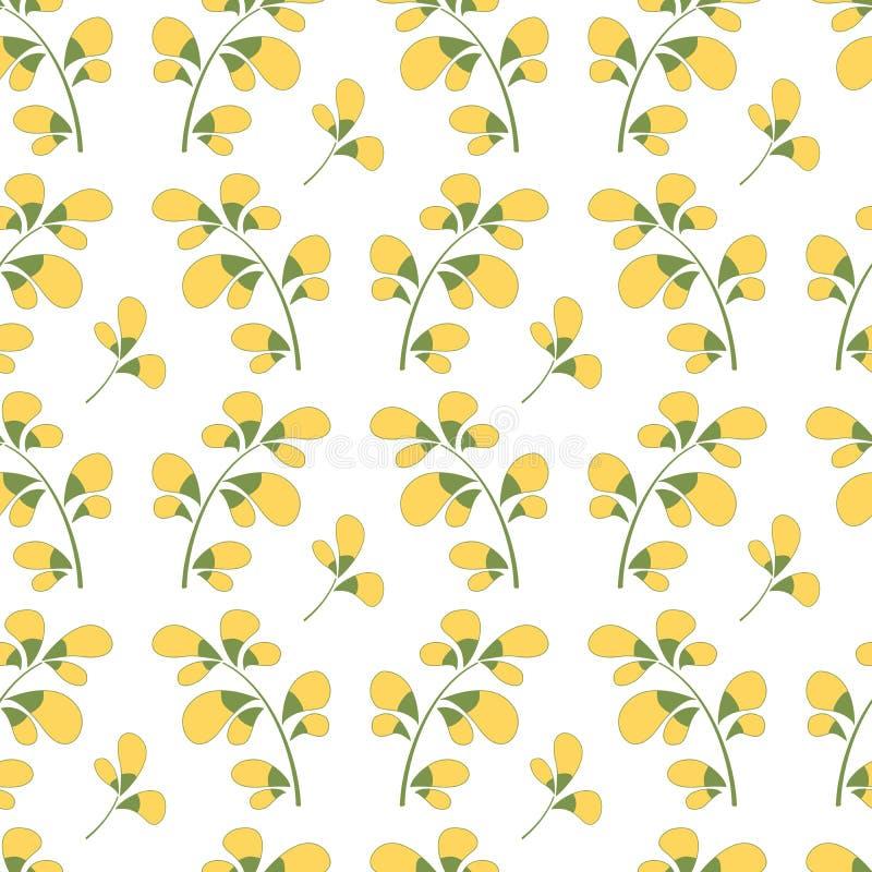 De elegante lente kleurt damast vector naadloos patroon stock illustratie