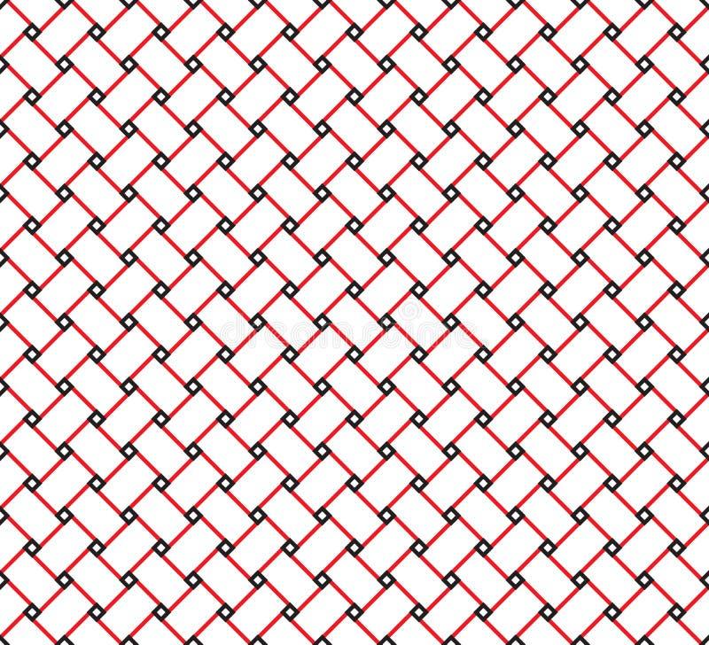 De elegante Moderne Vierkante Omheining Grid Pattern Background van de Lijnkubus vector illustratie