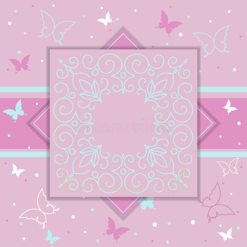 De elegante uitnodiging van de malplaatjeluxe, giftkaart royalty-vrije illustratie