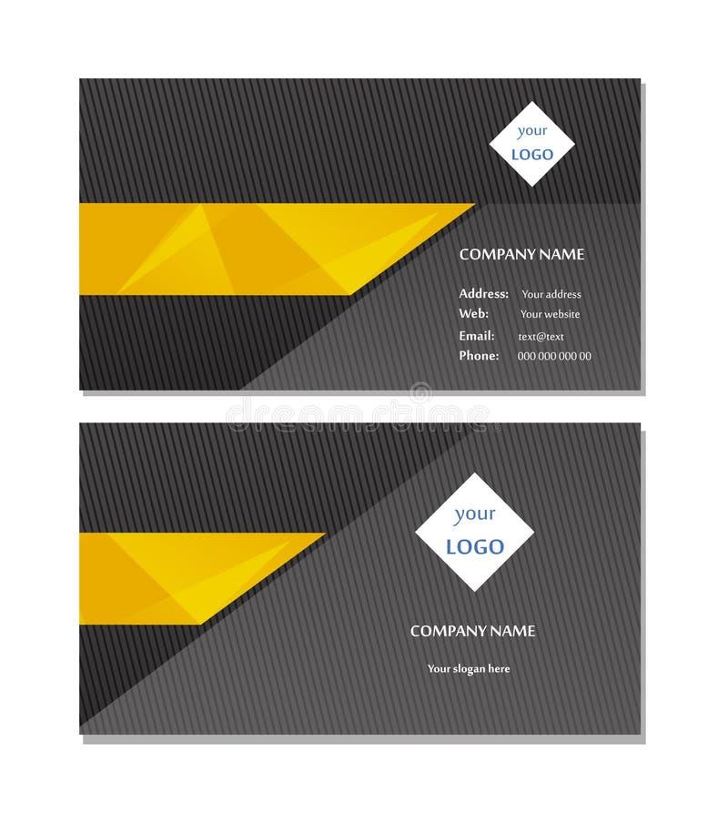 De elegante vector van het adreskaartjemalplaatje stock foto