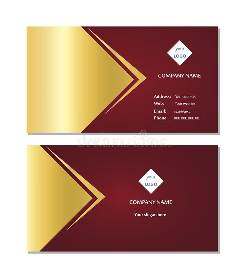 De elegante vector van het adreskaartjemalplaatje royalty-vrije stock afbeelding