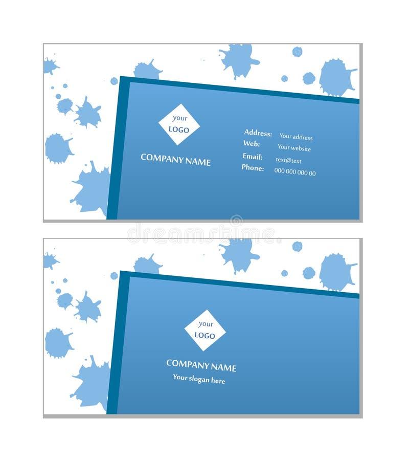 De elegante vector van het adreskaartjemalplaatje royalty-vrije stock fotografie