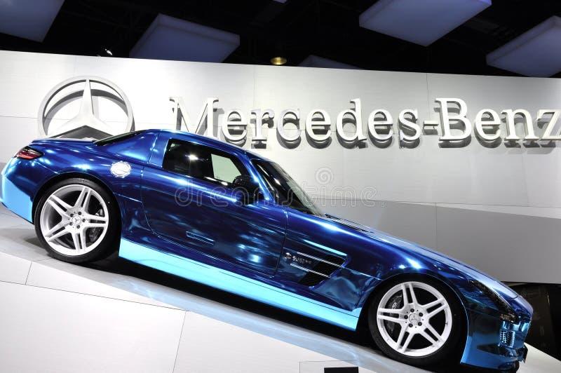 De Elektrische Aandrijving van de Coupé AMG van Mercedes-Benz SLS stock foto's