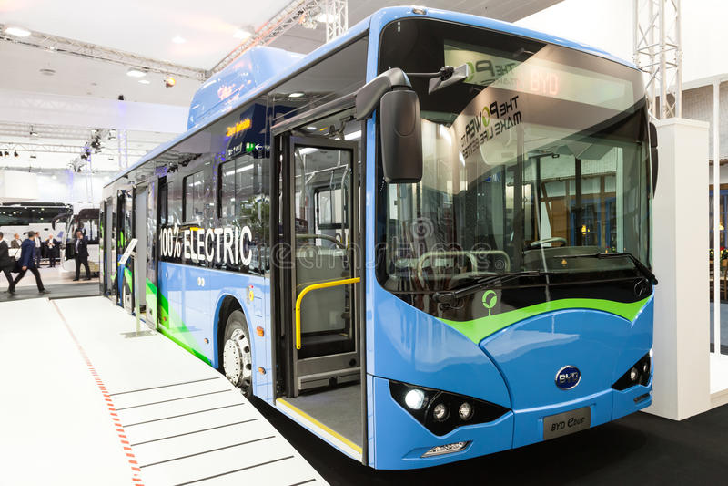 De elektrische bus van BYD stock foto