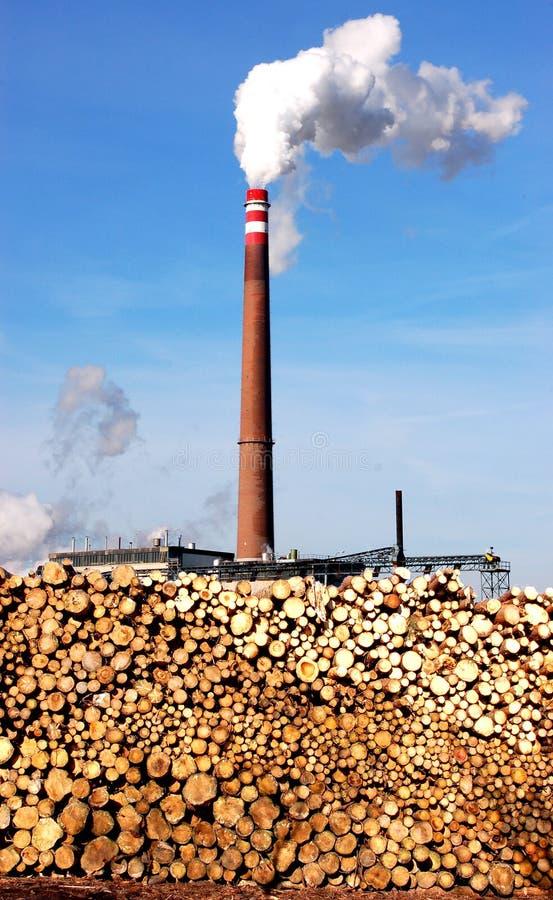 De Elektrische centrale van de biomassa royalty-vrije stock foto