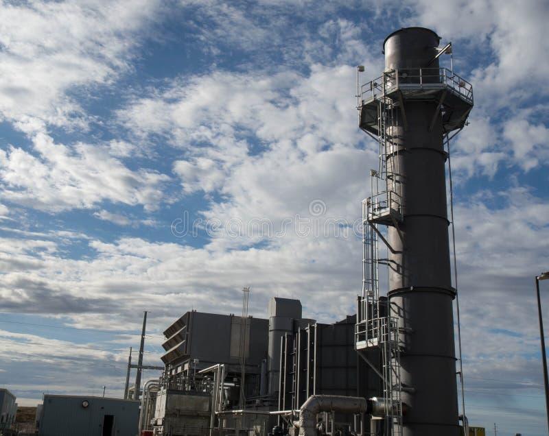 De elektrische centrale van de gasturbine stock afbeeldingen