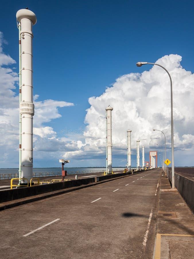 De Elektrische centrale van Itaipuhydroeletric stock afbeelding