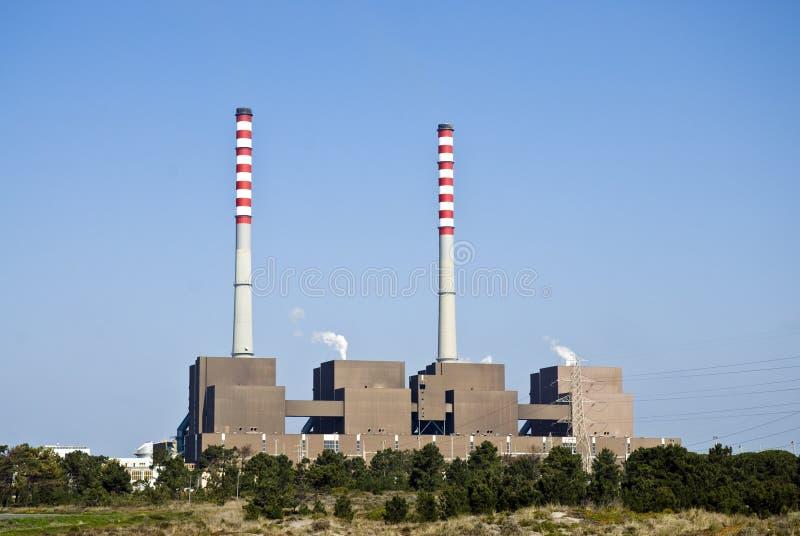 De elektrische centrale van Sines. royalty-vrije stock fotografie