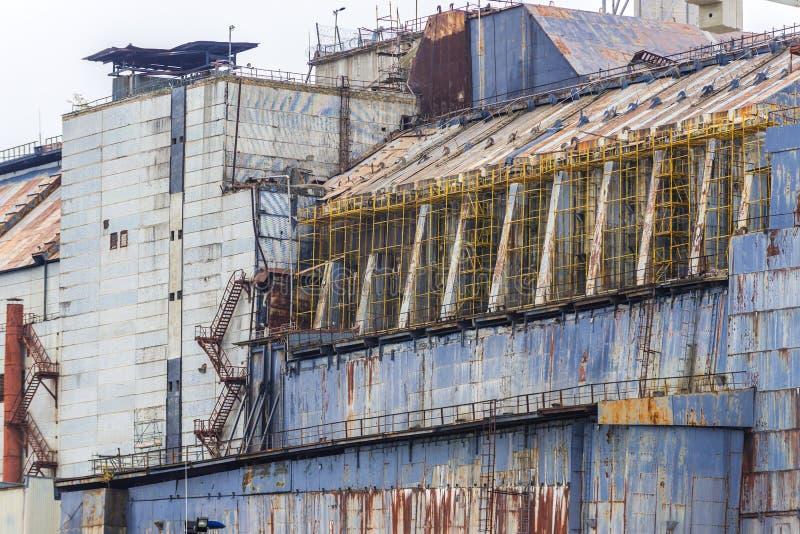 De Elektrische centrale van Tchernobyl stock afbeelding