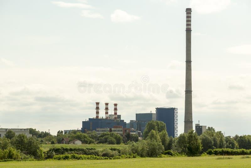 De elektrische centrale van Zagreb stock afbeelding