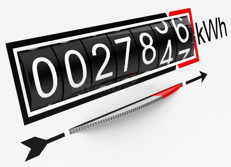 De elektrische meter vector illustratie