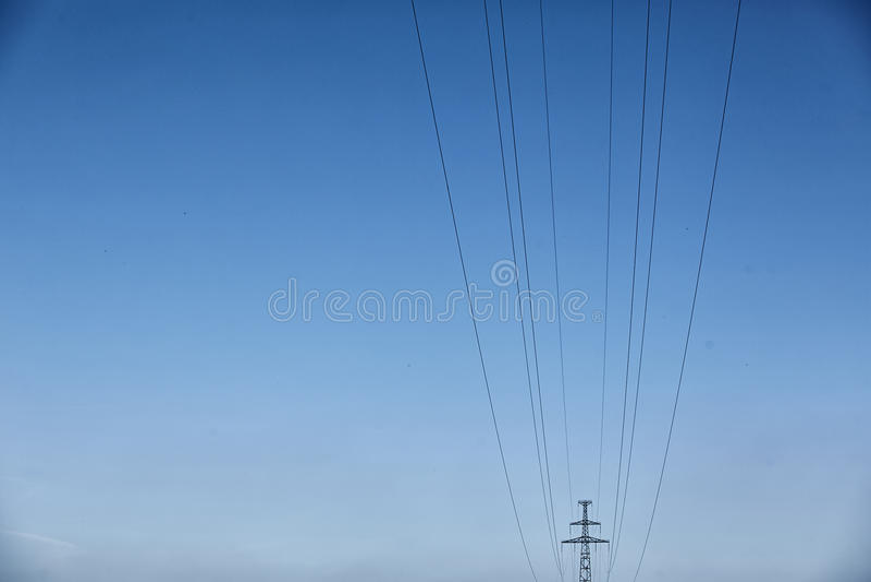 De Elektrische Toren van de hoogspanning Machtsconcept stock fotografie