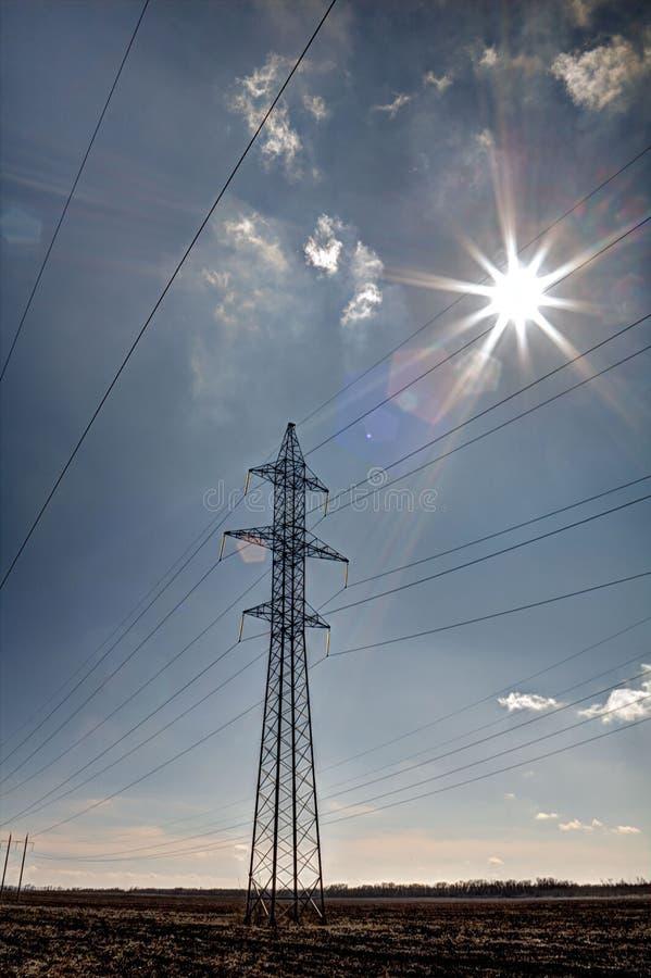 De Elektrische Toren van de hoogspanning Machtsconcept royalty-vrije stock foto