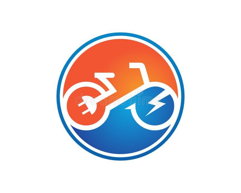 De elektrische vector van het fietsmalplaatje royalty-vrije illustratie
